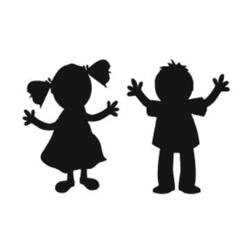 Två lekande barn