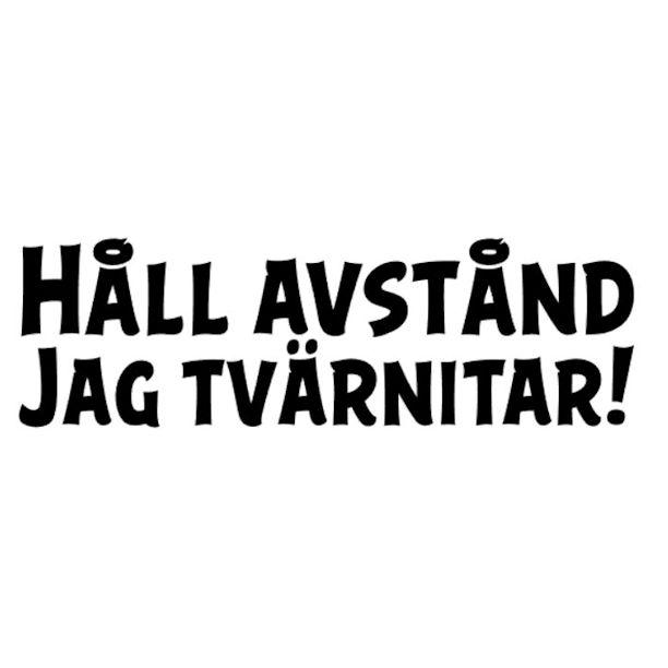 Underbar Bildekal Jag tvärnitar – TwinMom Vinylprint FM-67